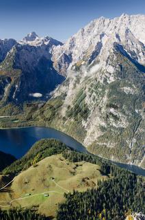 Königssee und Berg Watzmann