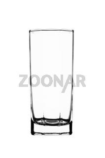 Leeres Glas isoliert auf weißem Hintergrund