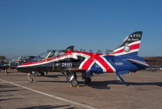 BAe Hawk jet from RAF Hawk Display team