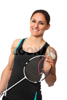 badminton player portrait