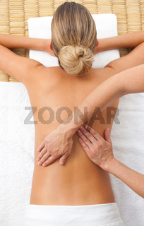 Relaxed woman having a massage