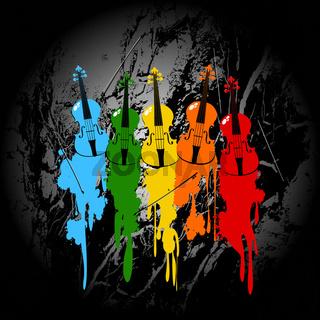 Grunge violins background