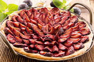 plum pie in the pan