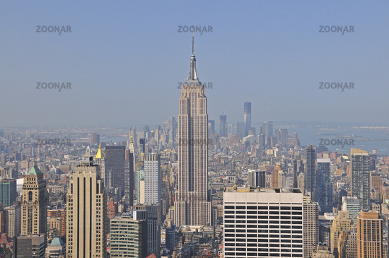 Camera Rockefeller Center : Photo panorama von der aussichtsplattform top of the rock im