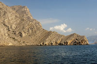 at the entrance to the Khor Ash Sham fjord,Oman