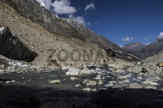 Bhagirathi river in Gaumukh