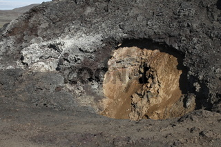 Lava in the Krafla volcanic area