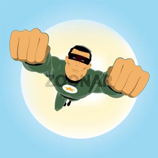Comic-like Green Super-Hero