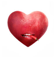 Apple Heart With Chili Pepper