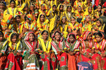 Group of Indian girls in colorful ethnic attire
