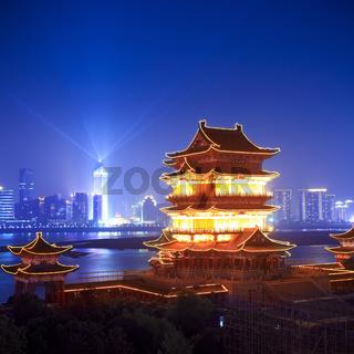 pavilion of prince teng at night