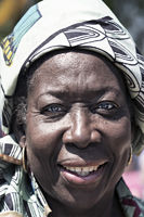 black woman with headscarf