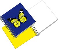 Notes with butterfly in color 05