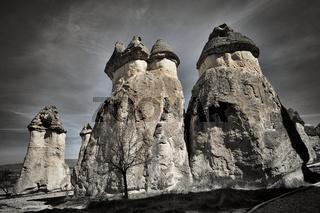 Felsformationen in Kappadokien Türkei