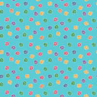 Funny abstract seamless cubes pattern