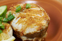 grilled t-bone codfish  steak