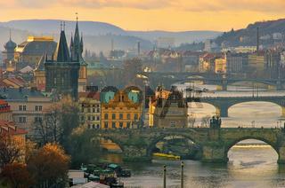 Prag Brücken von oben - Prague bridges aerial view 15