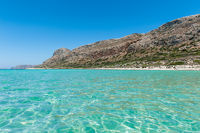 Turquoise Sea and Coast under blue Sky on Crete