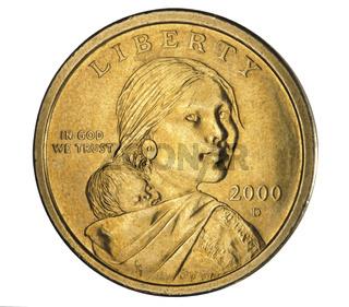Dollarmünze isoliert