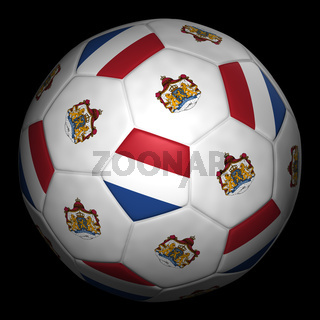 Fussball mit Fahne Niederlande