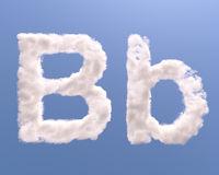 Letter B cloud shape