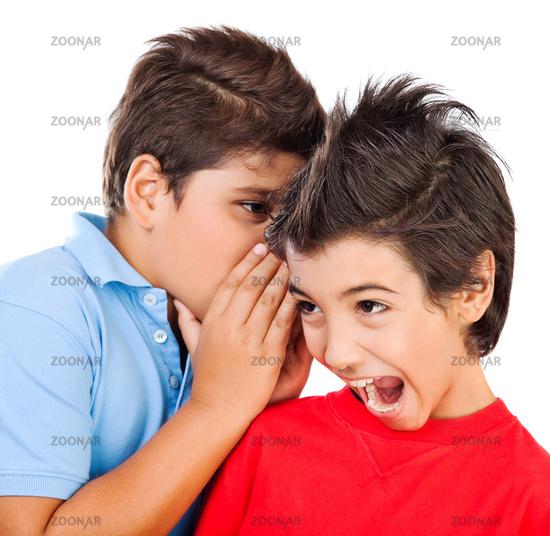 Excited gossip boys