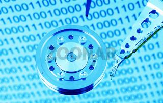 Festplatte eines Computers