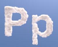 Letter P cloud shape