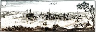Panoramic view of Wolgast, Mecklenburg Western Pomerania, German