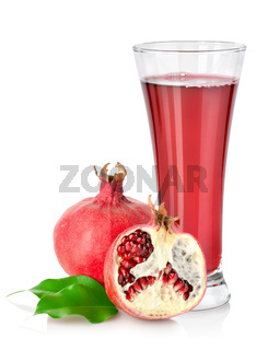 Pomegranate and glass