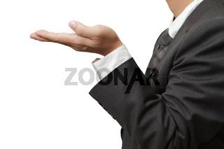 hands in offering gesture