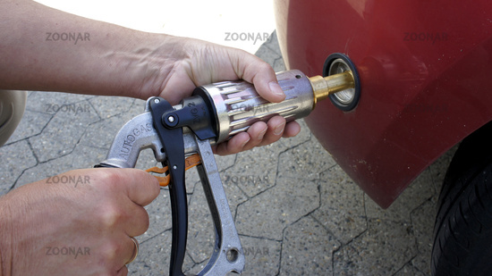 Filling up Liquid Petroleum Gas