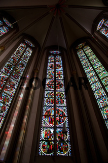 Stained glass . church window