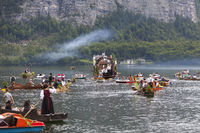 Corpus Christi procession on Lake Hallstatt, Hal