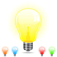 Light Bulb in 5 different colors