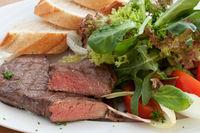 tender beef steak with garnish