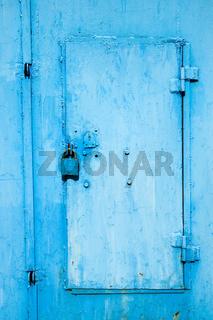 Padlock and door