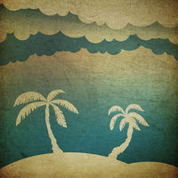 Summer travel concept background