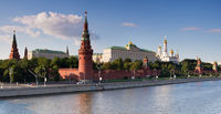 Moscow Kremlin Palace and Moskva river
