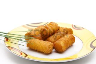 Kroketten auf Teller