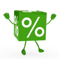 green sale cube wave