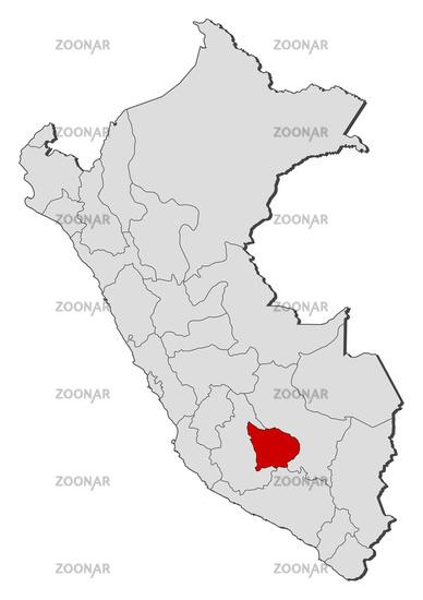 Peru Karte Umriss.Photo Map Of Peru Apurimac Highlighted Image 3025650