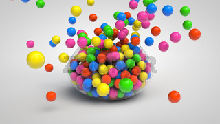 Bowl full of candies