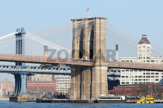 Brooklyn Bridge & Manhattan Bridge, New York City (USA)