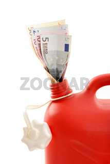 Roter Beninkanister / Red gas can