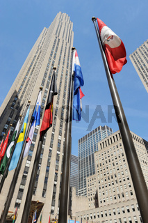 GE Building Rockefeller Center, Manhattan in New York City (USA)