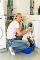 Woman filled a washing machine