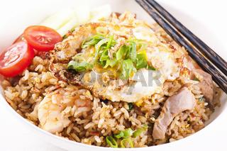 Nasi Goreng with chicken and shrimp