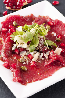 carpaccio with parmesan and capers