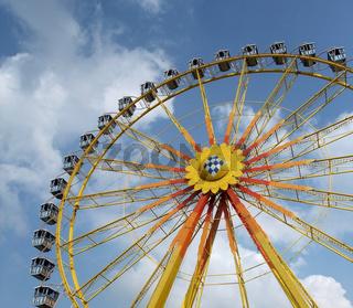 big wheel and blue sky